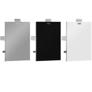 EXOS. stainless steel front for EXOS. hygiene waste bin for wall and recessed mounting