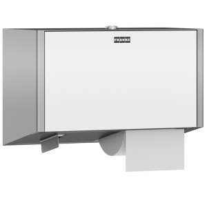 EXOS. double toilet roll holder for wall mounting