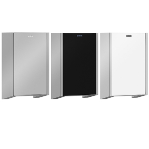 Interchangeable front panels for EXOS. hand dryers