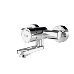 F5S-Mix self-closing wall-mounted mixer