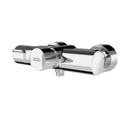 F5S-Therm self-closing thermostatic mixer with hand shower connection
