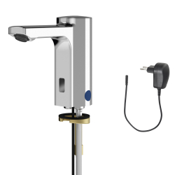 F5E electronic pillar tap with plug-in power supply unit