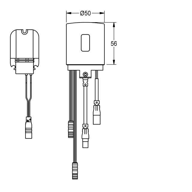 Hygiene unit for F5L-Mix single-lever wall mixer