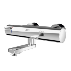 F5E-Therm electronic thermostatic wall-mounted mixer with battery operation