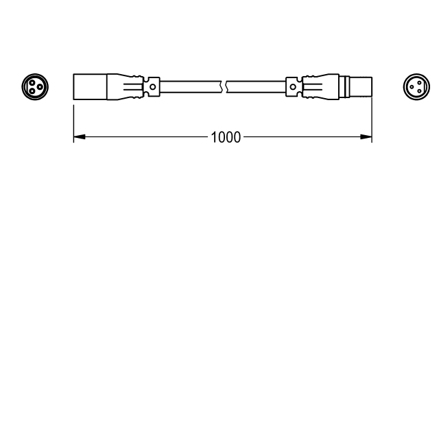 Extension cable for sensor