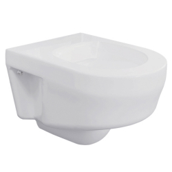 Wall mounted rimless WC pan
