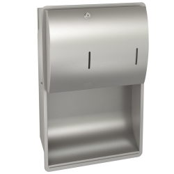 STRATOS Paper towel/soap dispenser combination for recessed mounting