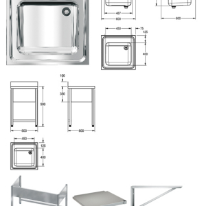 MAXIMA Commercial sink