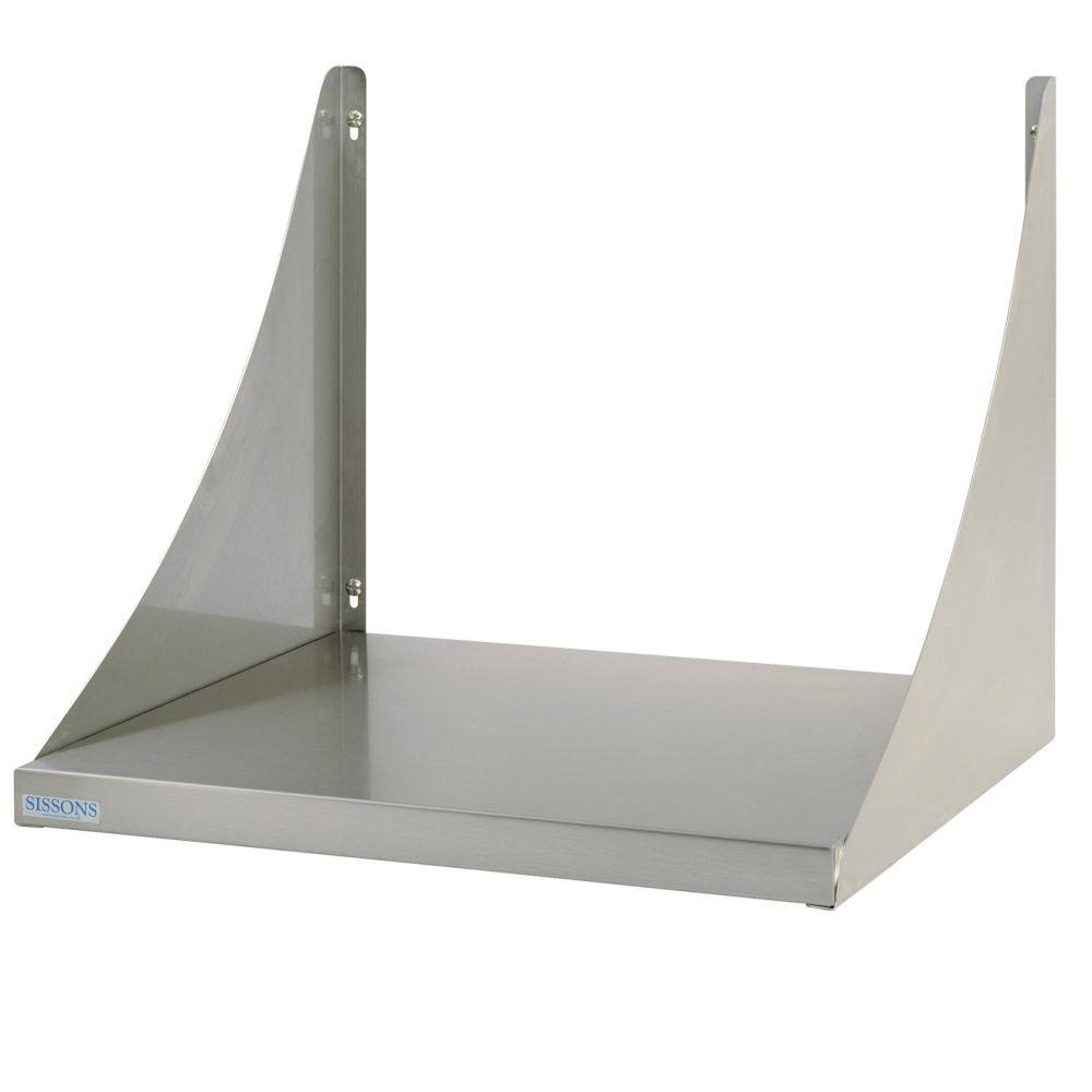Microwave shelf for wall mounting