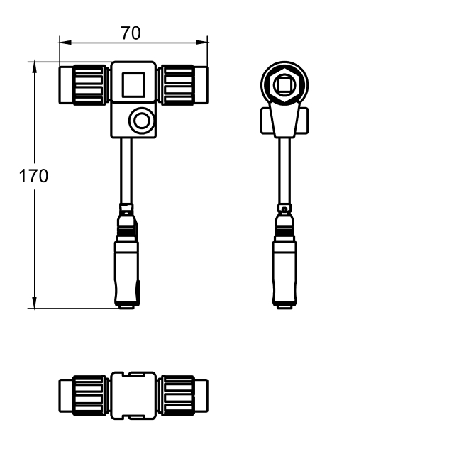 Electrical T junction