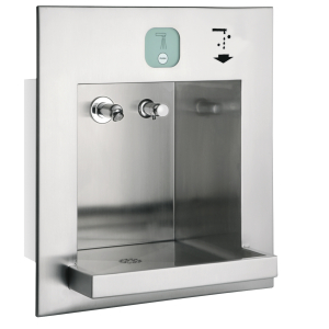 ALL-IN-ONE washbasin unit for water, soap, air