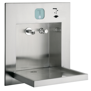 ALL-IN-ONE washbasin unit, barrier-free, for water, soap, air