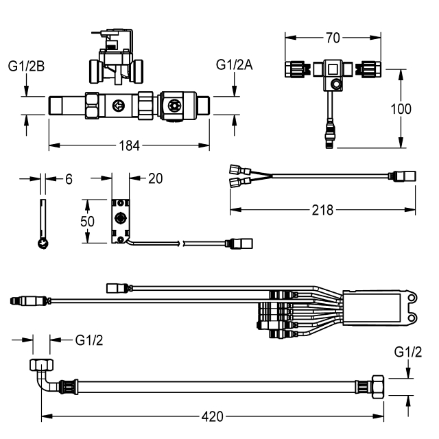 Electronic tap components