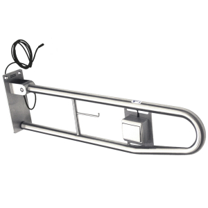 CONTINA foldable grab rail with electronic flush button