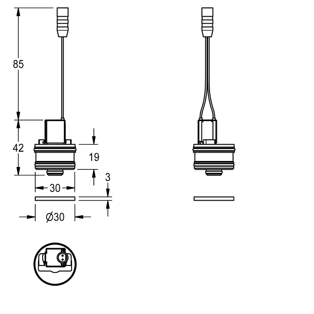 Bypass solenoid valve cartridge