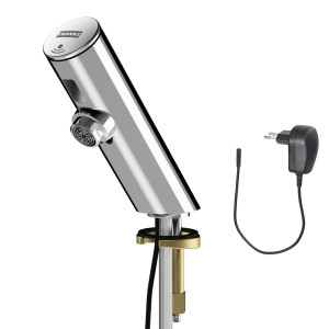 F3E electronic pillar tap with plug-in power supply unit