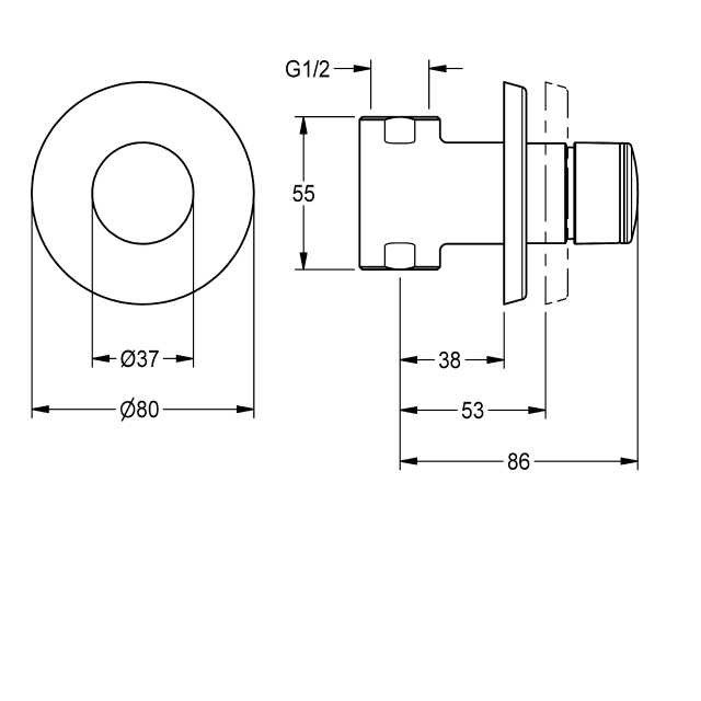 F3S self-closing straight-way valve