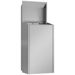 EXOS. waste bin for recessed mounting
