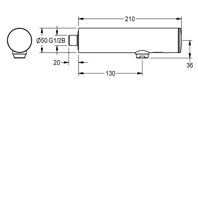 F3E Electronic bib tap with battery operation