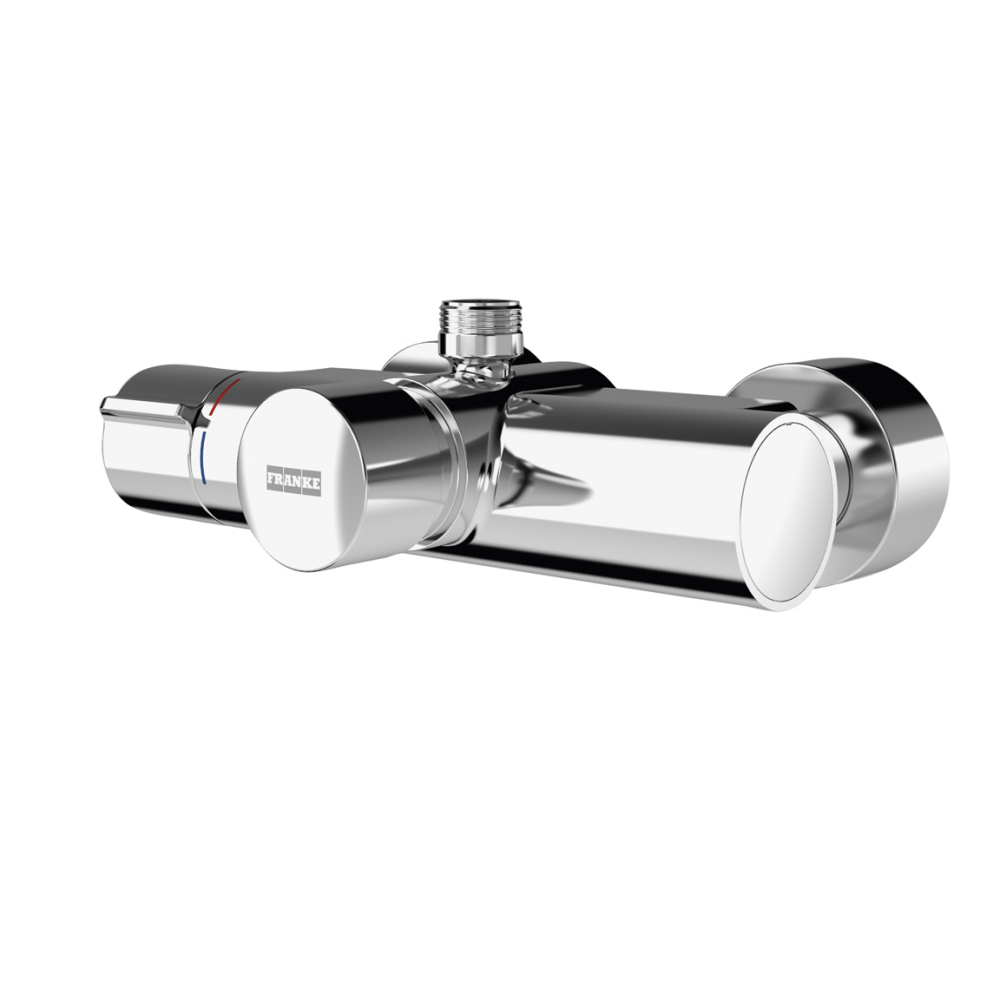 F5S-Therm self-closing thermostatic wall-mounted mixer