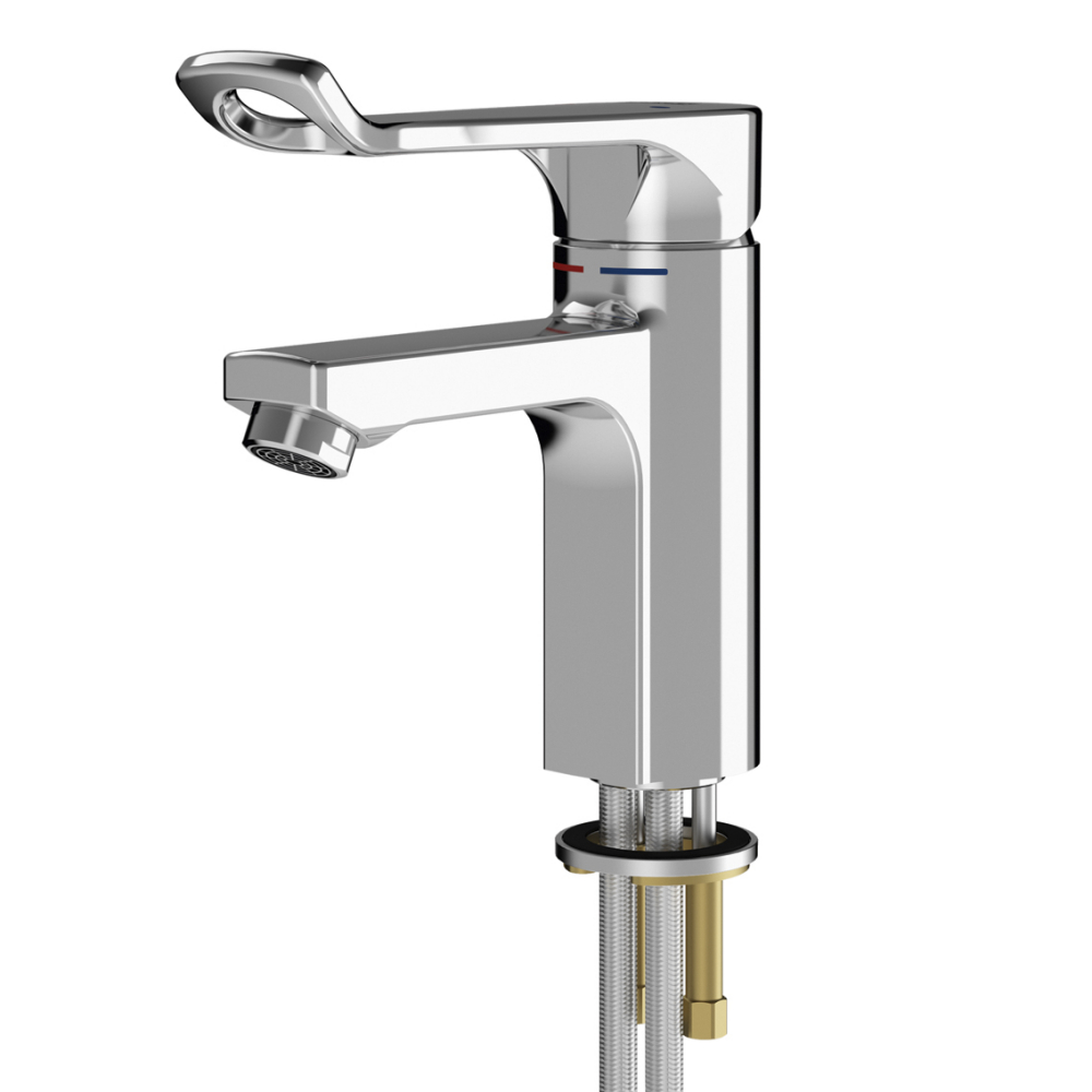 F5L-Mix single-lever pillar mixer for accessible washing facilities
