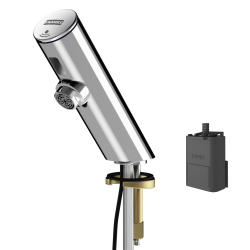 F3E electronic pillar tap with battery compartment