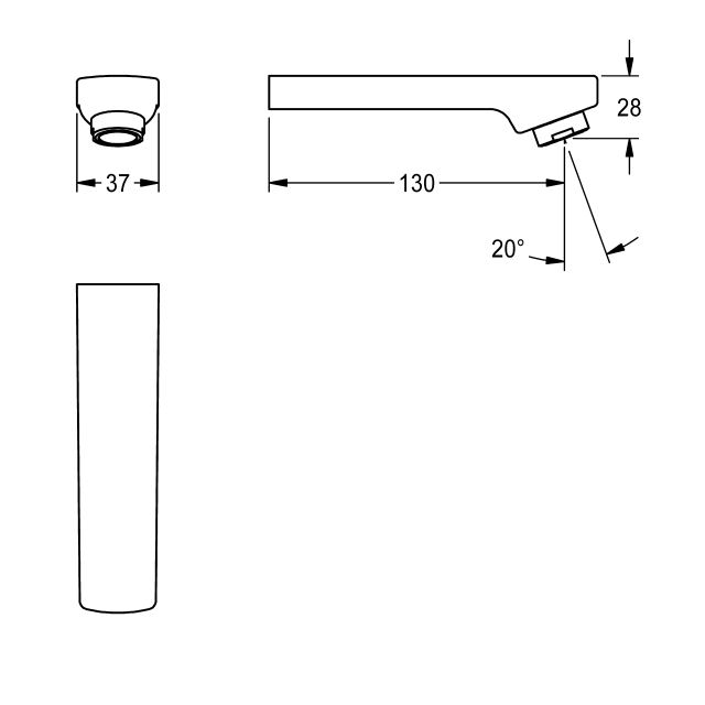 Outlet, 130 mm