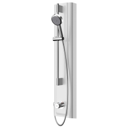 F5S Mix shower panel made of MIRANIT with hand shower fitting