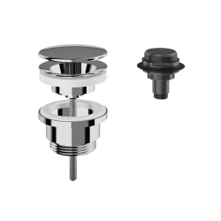 Dome waste valve, chrome-plated