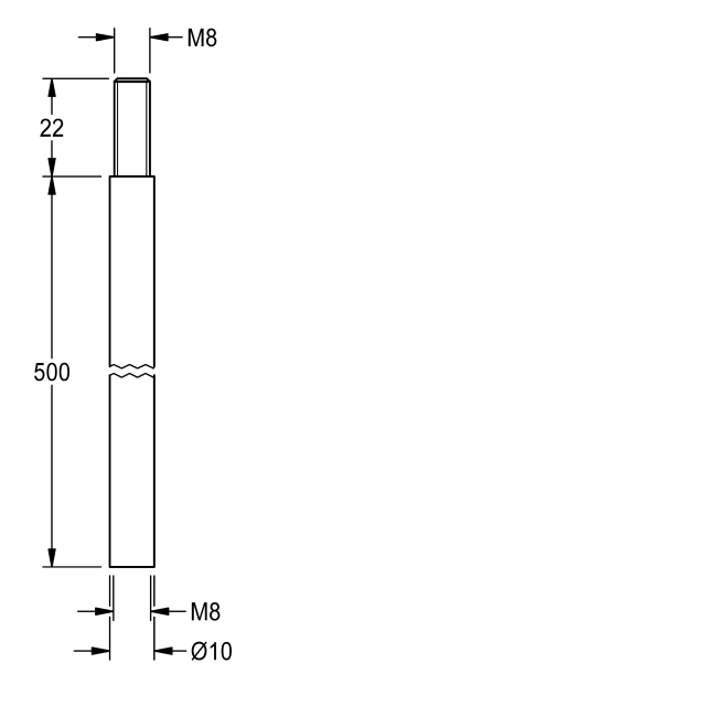 Extension for coupling-rod