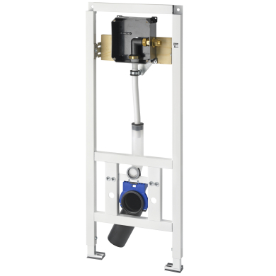 AQUAFIX installation frame for barrier-free wall-mounted toilet bowls