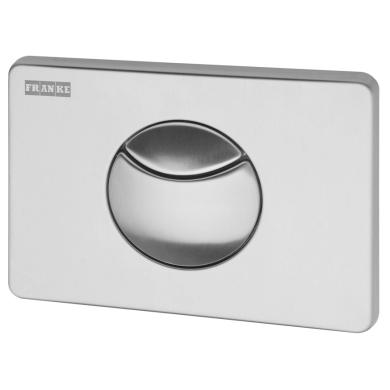 Flushing plate with 2 buttons