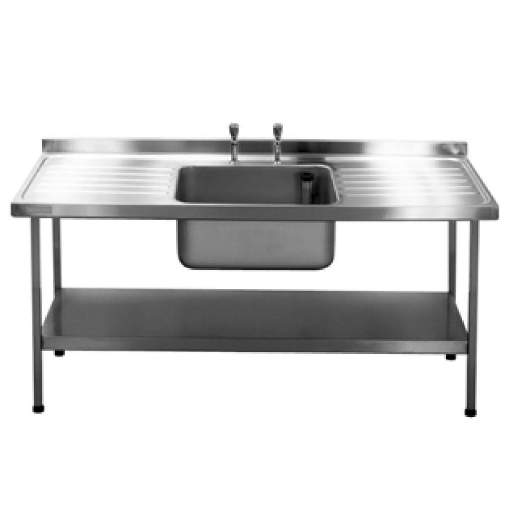 Catering sink with double drainer