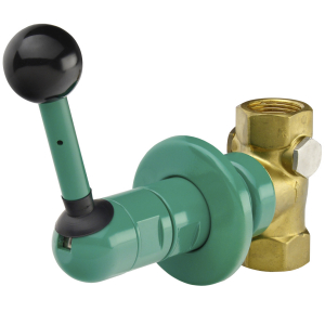 Emergency shower valve for surface mounting