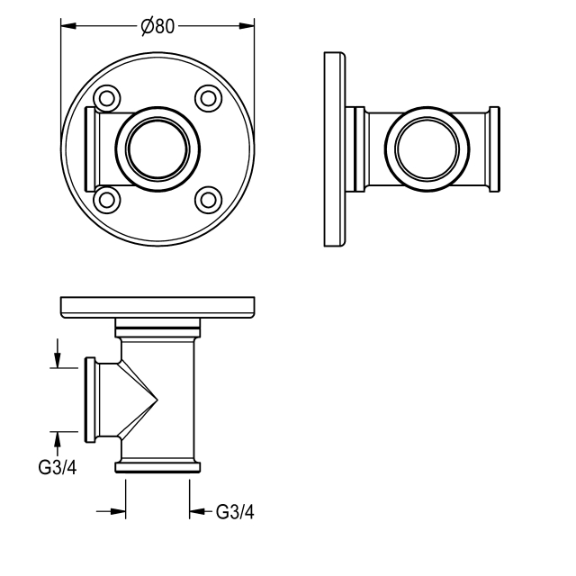 Wall connecting piece