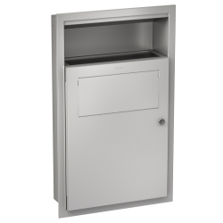 RODAN hygiene waste bin for recessed mounting