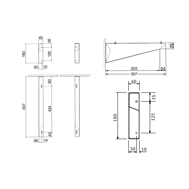 Pair of brackets for plaster sink