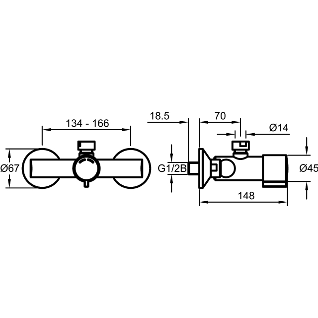 Self-closing single mixer