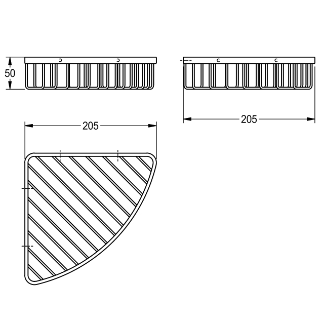 MISCELLANEOUS Corner basket for wall mounting