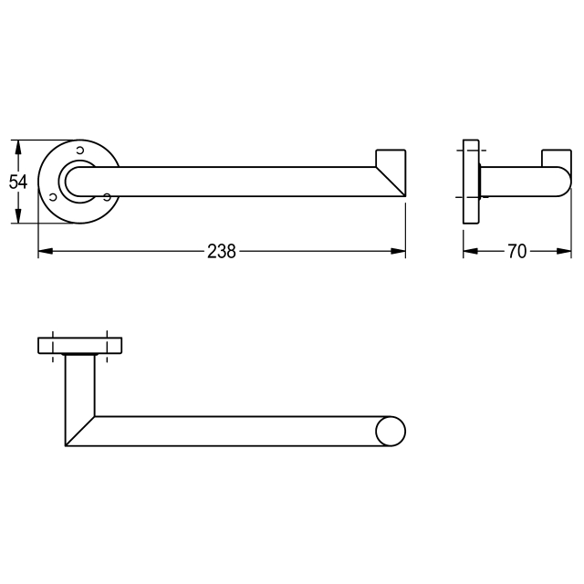 MEDIUS Towel arm for wall mounting
