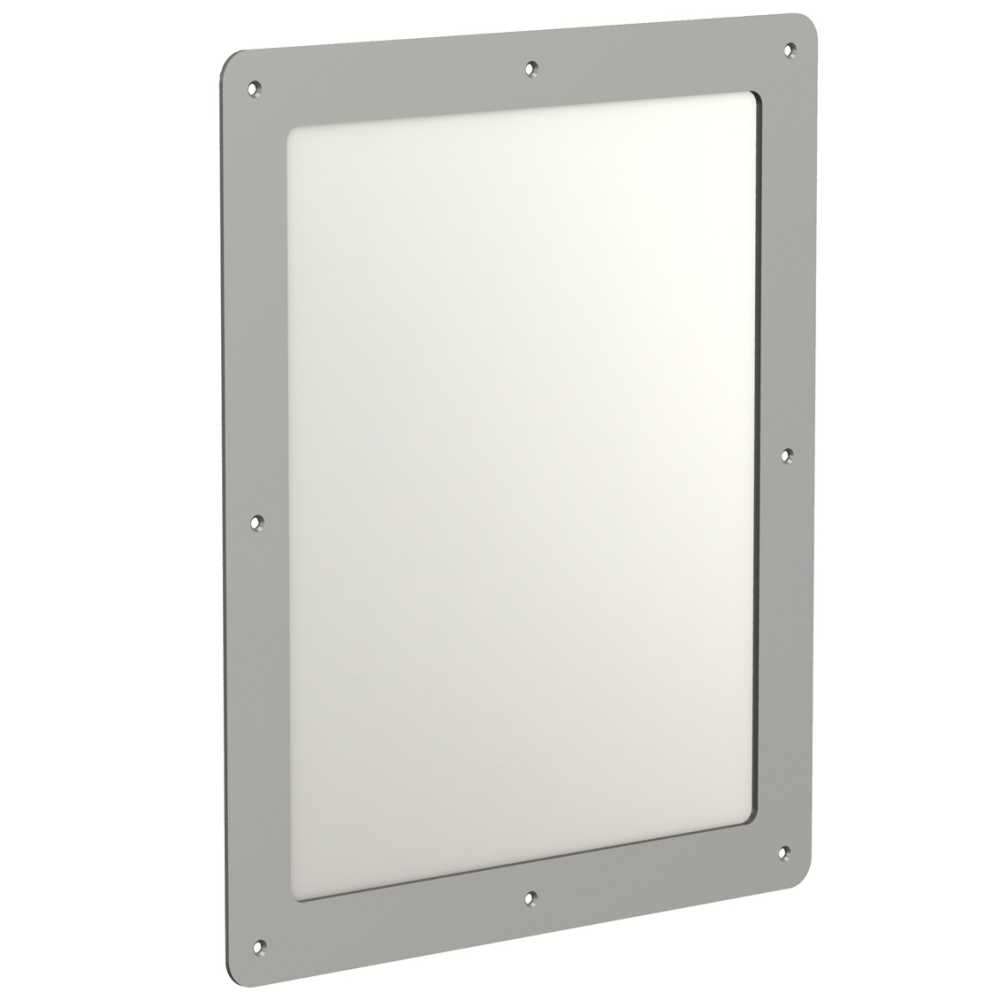 Stainless steel mirror for wall mounting