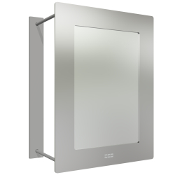 Stainless steel high security mirror