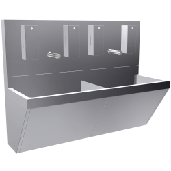 All-in-one double scrub sink