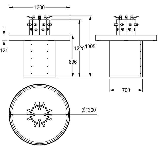 Circular Washtrough for 8 persons