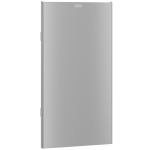 EXOS. stainless steel front for waste bin for wall and recessed mounting