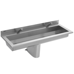 SATURN Wall mounted washtrough with tap ledge