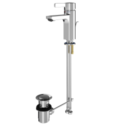 F5L-Mix single-lever pillar mixer with pop-up waste set