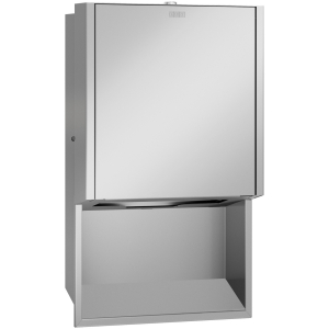 EXOS. paper towel dispenser for recessed mounting
