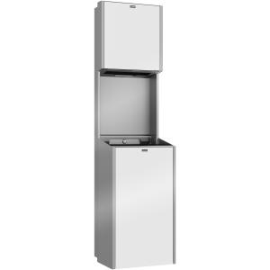 EXOS. paper towel dispenser and waste bin combination