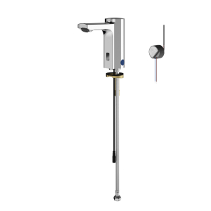 F5E electronic pillar tap with in-wall power supply
